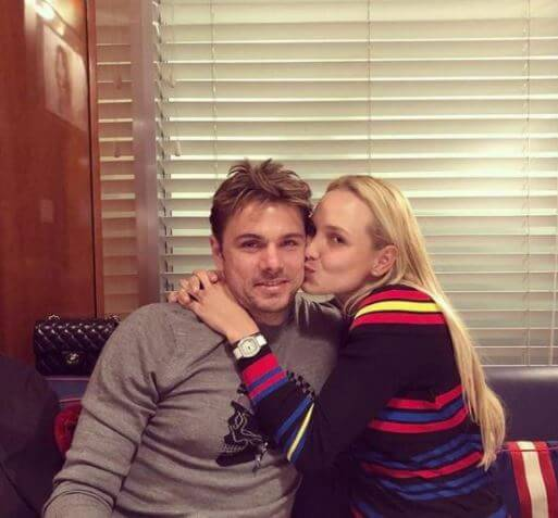 Ilham Vuilloud's ex-husband, Stan Wawrinka, with his girlfriend, Donna Vekic.